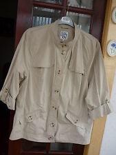 ~The Collection @ Debenhams~ladies lightweight beige cotton jacket sz.22 rrp £38