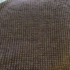 Purple multi chenille upholstery fabric heavy large remnant