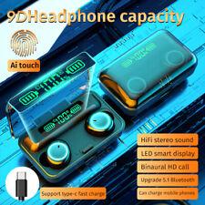 Bluetooth 5.1 Earbuds LED Headset TWS Wireless Earphones Stereo Mini Headphones