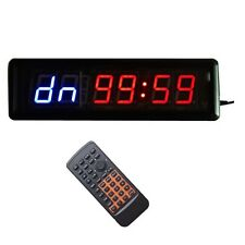1.8'' 6Digits LED Interval Training Timer Wall Clock Fitness Garage w/Remote