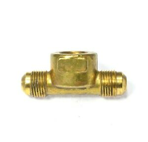 3/8 Male Flare Sae 45 to 3/8 Female Npt Branch Tee Propane Natural Gas Fitting