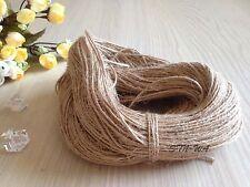 100m Natural Jute String Hemp Rope Christmas Rustic Gift Wrap Scrapbooking Craft