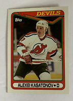 1990 Topps NHL Devils Alexei Kasatonov Hockey Card #358 Rookie Card