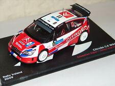 SUPERBE VOITURE CITROEN C4 WRC RALLYE DE 2009 COMME NEUVE EN BOITE TRANSLUCIDE