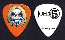 Rob Zombie John 5 Face Orange Guitar Pick - 2016-2017 Tour