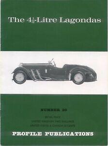 Lagonda 4½ Litre Profile Publication No. 29 inc. Rapide M45 L45R LG45 LG6 GL6 +