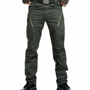 IX9 Men Military Tactical Cargo Pants Swat Army Training Hiking Hunting Hose DE