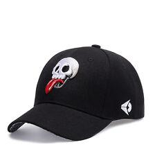 Men Women Skull Embroidery Canvas Baseball Cap Bboy Hip-hop Snapback Adjustable