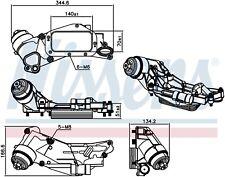 Scambiatore di Calore Acqua Olio Completo Chevrolet Cruze 1.6 1.8 Benzina