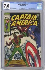 Captain America #117 CGC 7.0 HIGH GRADE Marvel Comic KEY 1st Falcon (Sam Wilson)