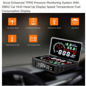 12V DC Autool Car GPS HUD Speedometer Alarm TPMS State Display Digital Meter