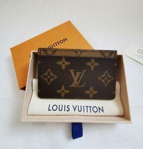 Authentic Louis Vuitton Monogram Reverse Canvas Card Holder - Brand New