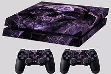 purple skull ps4 skin sticker playstation 4 controller punisher #32 ripper ghost