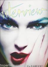 Interview Magazine Lindsay Lohan Dolce And Gabbana Lily Allen Roman Polanski