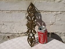 RECLAIMED VICTORIAN ? CHUNKY BRONZE OR BRASS DOOR HANDLE FINGER PUSH PLATE
