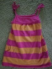 Jillian'S Closet Pink and Orange Striped Sundress Girls Size 18 months