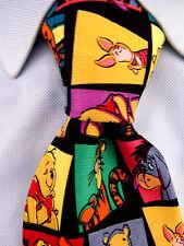 Homme Pooh par Disney Magnifique Multicolore Cravate Soie Classique Fabriqué En