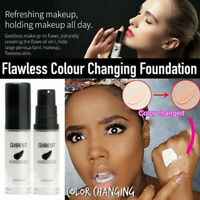 QIBEST Color Changing Foundation Makeup Base Face Liquid Cover Concealer hi