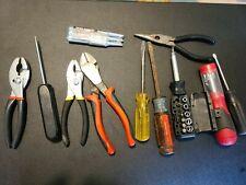 Lot Of 11 Tools Screwdrivers Pliers Sockets Ag