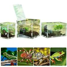 Transparent Acrylic Reptile Feeding Box Insect Spider Breeding Cage Container