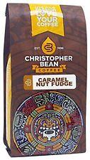 Christopher Bean Coffee Flavored Whole Bean Coffee, Caramel Nut Fudge Truffle, 1