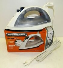 NEW Procter Silex Durable Iron Nonstick Soleplate 17150Y  Grey/White