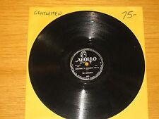 "DOO WOP GROUP 78 RPM - THE GENTLEMEN - APOLLO 464 - ""SOMETHING TO REMEMBER U BY"""