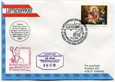 1992 Luftschiffpost n. 2 Pro Juventute Dirigibile HB-BWA Pestalozzi Nikolaus