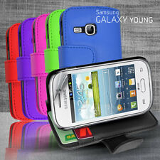 6 Colour Side Wallet Leather Case Cover for Samsung Galaxy Young S6310 + SP