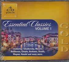 ESSENTIAL CLASSICS GOLD - VOLUME 1 - VARIOUS ARTISTS on 4 CD'S -  NEW -