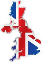 AUTOCOLLANT STICKER drapeau CARTE ANGLAIS UK UNION JACK ROYAUME UNI Moto Voiture