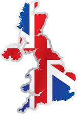 AUTOCOLLANT STICKER drapeau CARTE ANGLAIS UK UNION JACK ROYAUME UNI Moto Voiture
