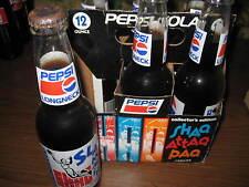 Vintage Original Lot of 6 SHAQ PEPSI LONGNECKS with carrier Soda Pop 200