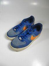 Nike Air Force Boys Shoes 5.5Y Blue Orange Sneakers # 314192-414