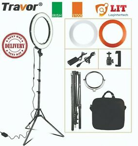 IE Travor RL18 Dimmable Ring Light With Carry Bag 240p Led 55W 1.8M Tripod