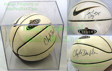 Signed NIKE Basketball Clyde Drexler Jerome Kersey Portland Trail Blazers +Case