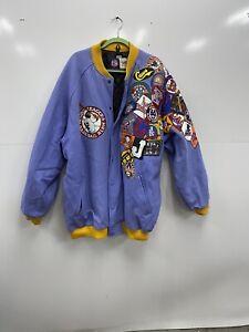 Headgear Negro League Baseball Museum Purple Wool Varsity Jacket Size 5XL