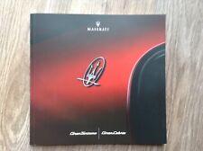 MASERATI GRANTURISMO GRANCABRIO UK Sales Brochure - Sport & MC (60 pages)