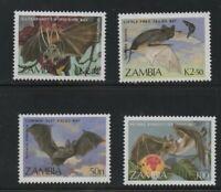 Zambia  (1989)  - Scott # 466 - 469 ,  MNH   Bats