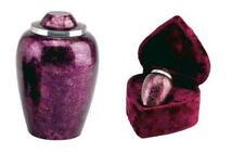 Burgundy Plum Alloy Urn Set
