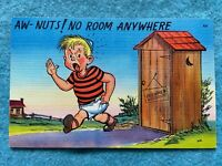 Aw, nuts - No room anywhere Vintage Postcard