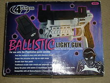 SONY PLAYSTATION 1 PS1 PS2 Ballistic LUCE PISTOLA BLASTER PISTOLA RICARICA PEDALE BOXED