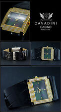 Casino Women's Watch Over 200simili-steinen perlmut-zifferblat Black Covered