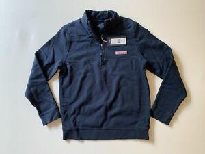 NEW Vineyard Vines Boys 1/2 Zip Shep Shirt in Navy Size L (16)