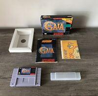 Illusion of Gaia Super Nintendo SNES Game CIB Complete Box Manual Map Poster lot