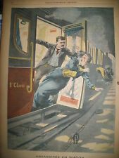TRAIN PERE LACHAISE CRIME NAUFRAGE SHAMROCK II JOURNAL LE PETIT PARISIEN 1901