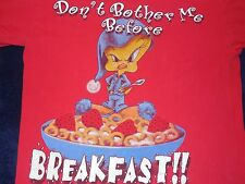 Tweety Bird Don't Bother Me Before Breakfast WB Studio Store T-Shirt Adult L