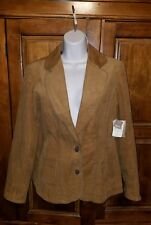 NEW Coldwater Creek Womens Size 8 (M) Brown Corduroy Jacket $79