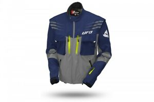 UFO 2021 Tiaga Enduro Jacket  - Blue Grey  - Removable sleeves - ALL Sizes
