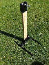 HEAVY DUTY 2X4 STEEL AR500 SHOOTING TARGET STAND WITH TOPPER AND SPRING FULL KIT
